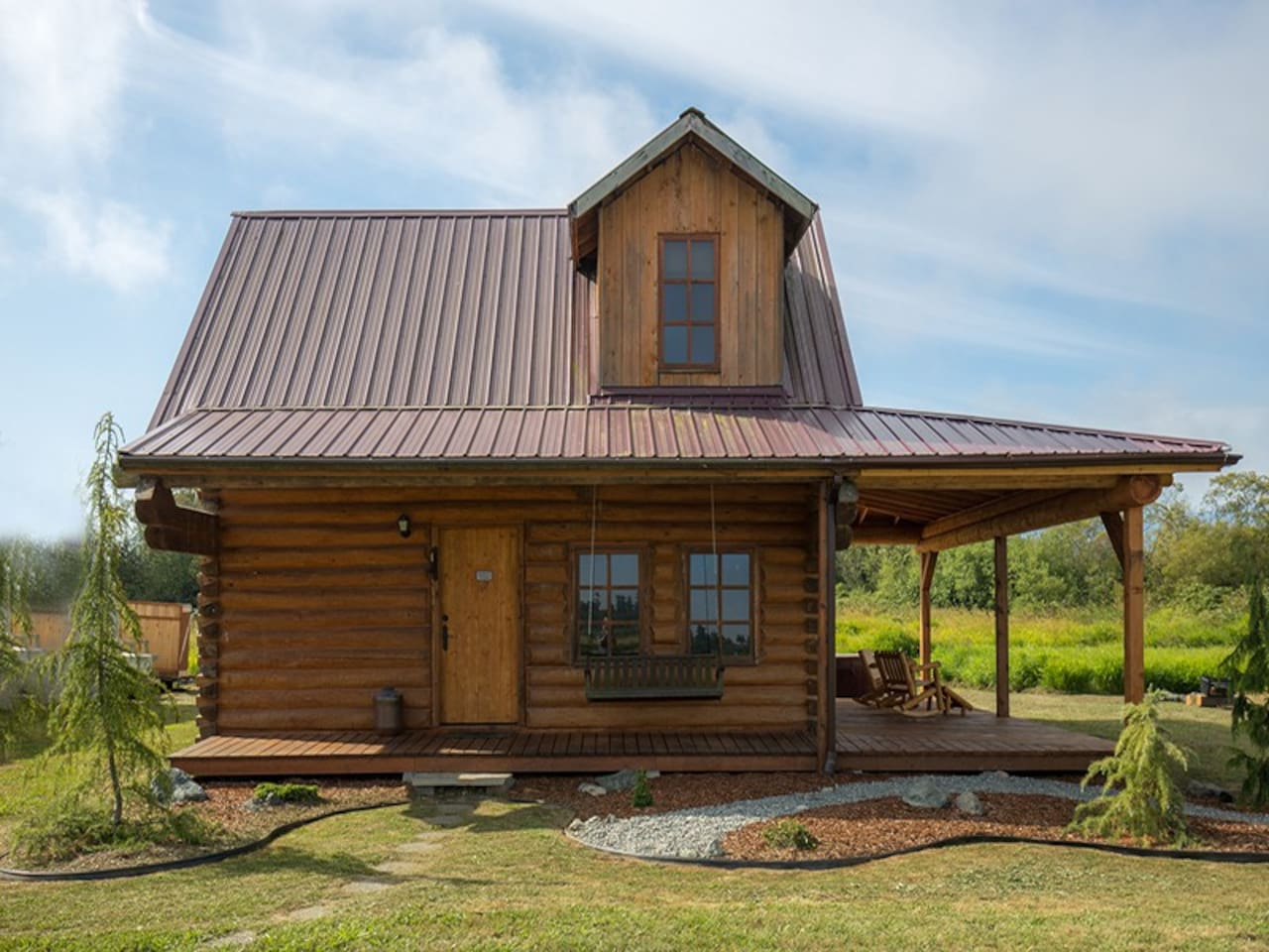Blue Sky Cabin located on a private airstrip community in beautiful Sequim valley