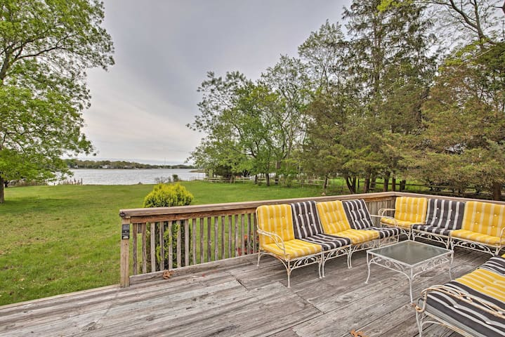 Sag Harbor Home w/ Deck, Dock & Private Beach!