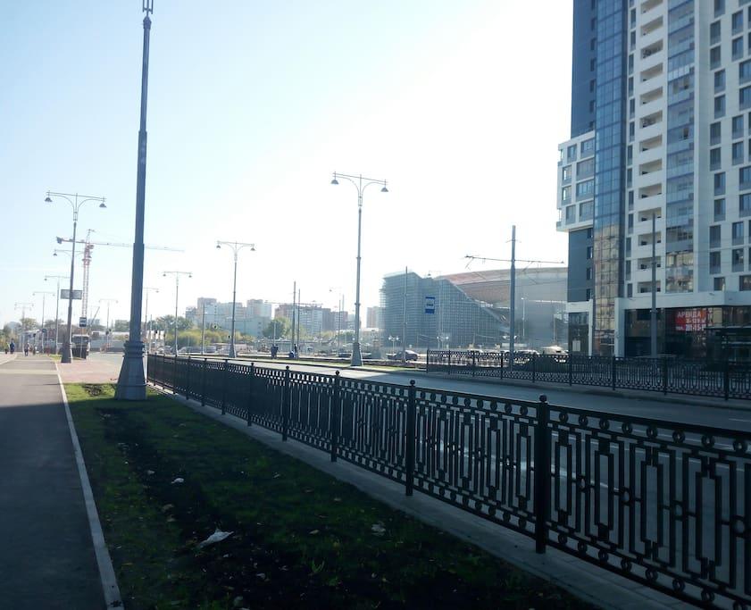 Улица Татищева и стадион
