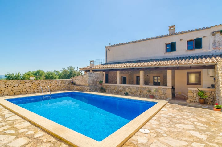 SON RAMON - Villa with private pool in SANT JOAN. Free WiFi