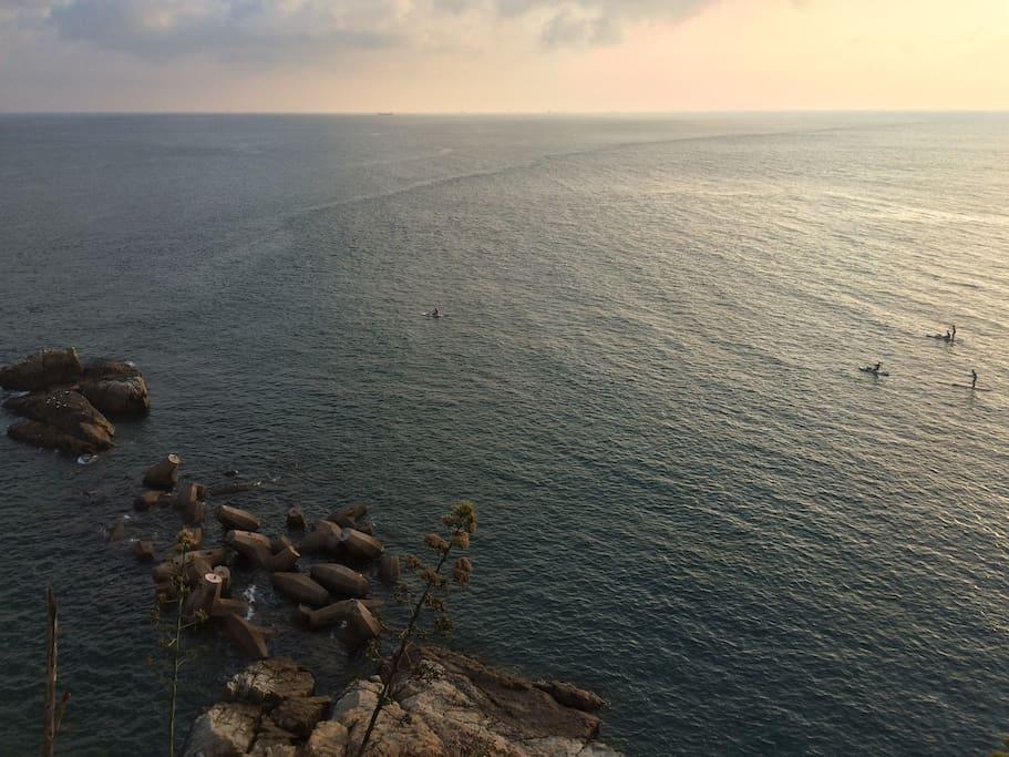 窗外海景(日落)