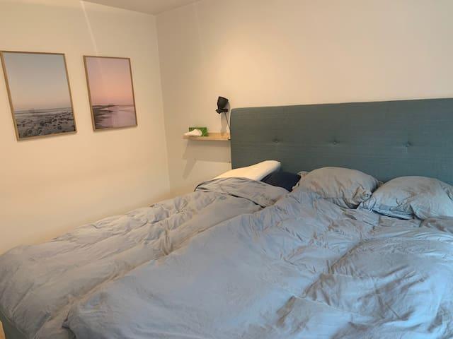 Master bedroom on 1st floor, 210x210cm bed :)