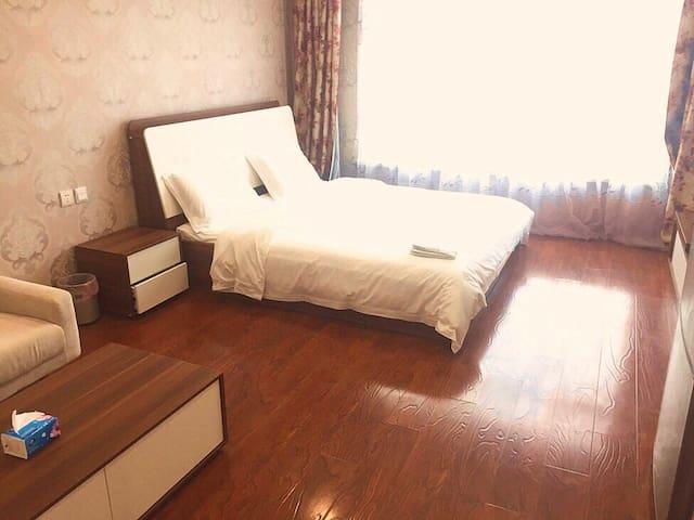 丽晶御筑 精美奢华一室公寓 楼下地铁2号线  临近香港中路 市政府 五四广场 万象城 麦凯乐 海边