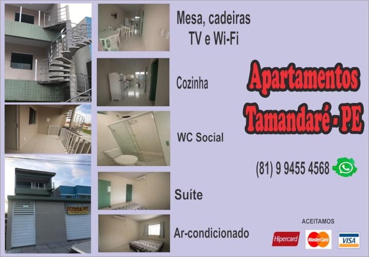 Apartamento (2º andar) em Tamandaré-PE