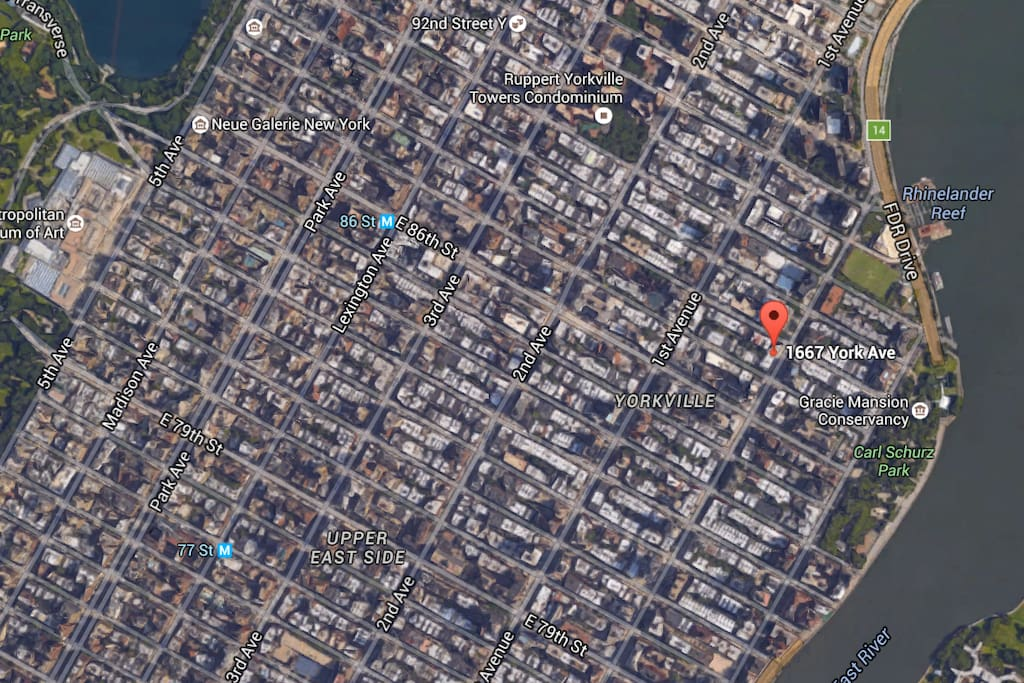 Close View of Location (Upper East Side/Yorkville