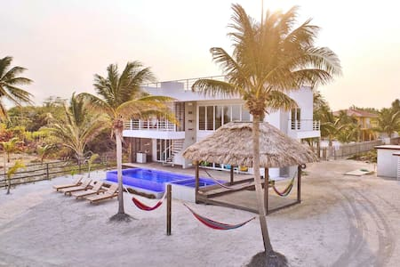 Modern Beachfront Home with Private Pool & Hot Tub
