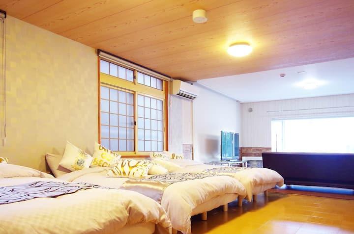[L1A]西28丁目駅5分 円山エリアのMAX16人で貸切の大きな家!/高速Wi-Fi