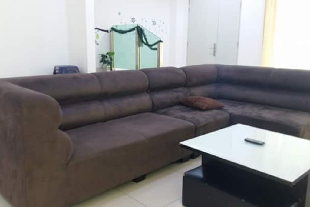 comfort and big sofa in living room
