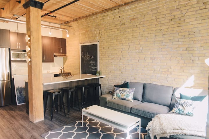 2 bedroom trendy downtown loft