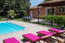 Belle villa climatisee de 250m2 avec piscine