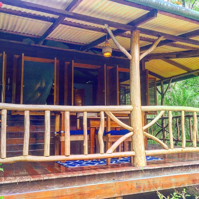 COCO jungle cabin exterior