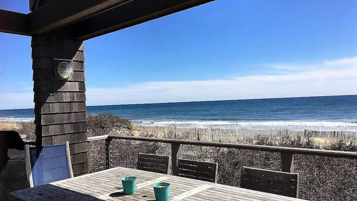 New Listing: Beach front escape with oceanfront views, steps from the water