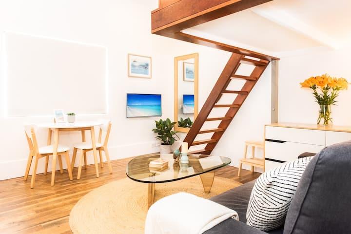 Beautiful beachfront designer studio