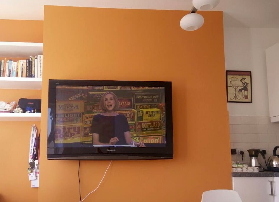 """Reception room with 46"""" TV"""