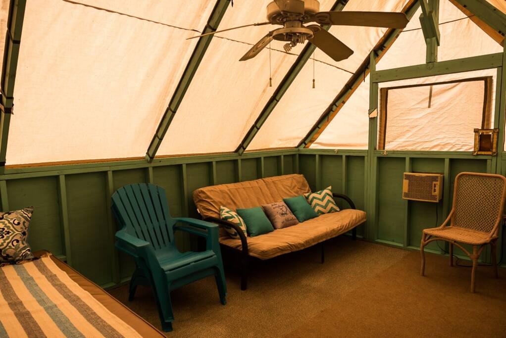 Inside of Pioneer Eco-Cabin