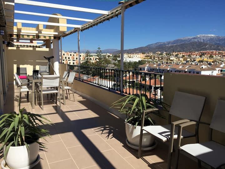 Underbar takvåning med stor terrass