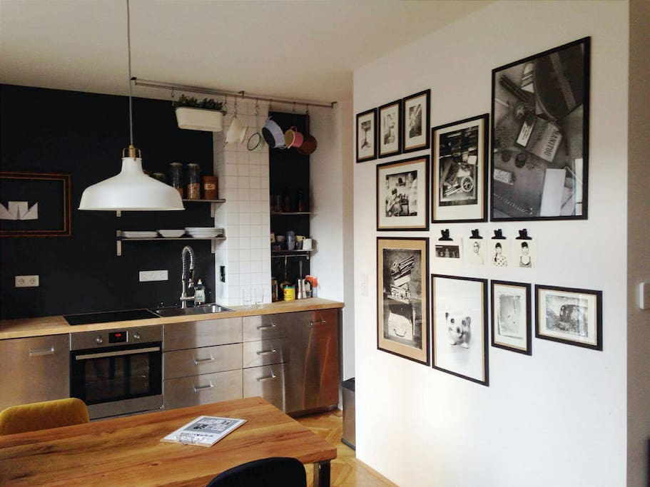 new picture. gallery at the wall by young artists. you can buy the pieces in my apartment