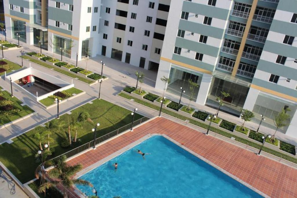 Nice swimming pool in the ensemble of apartments