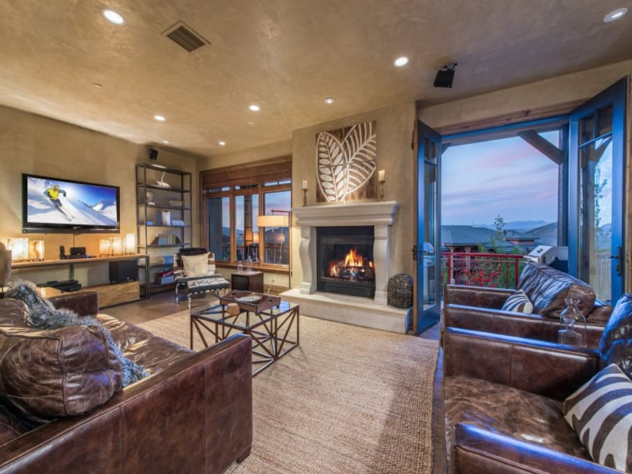 Living Room: Equipped with flat screen TV, views of Canyon/Park City Mountain, and more!