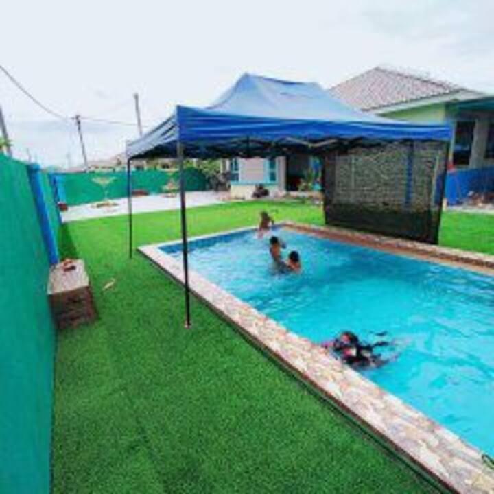 Homestay Megat Puteri Changlun dgn kolam renang