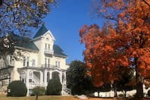Stuart Hall School in the fall. Only 3/4 mile from our place!