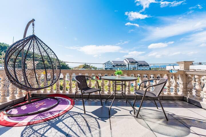 象山松兰山风景区水上乐园-澜山小住阳台标准房
