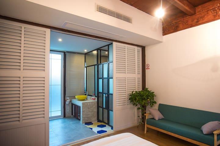 乌镇木馨豪华家庭房 卫生间设施齐全,24小时热水,WiFi全覆盖
