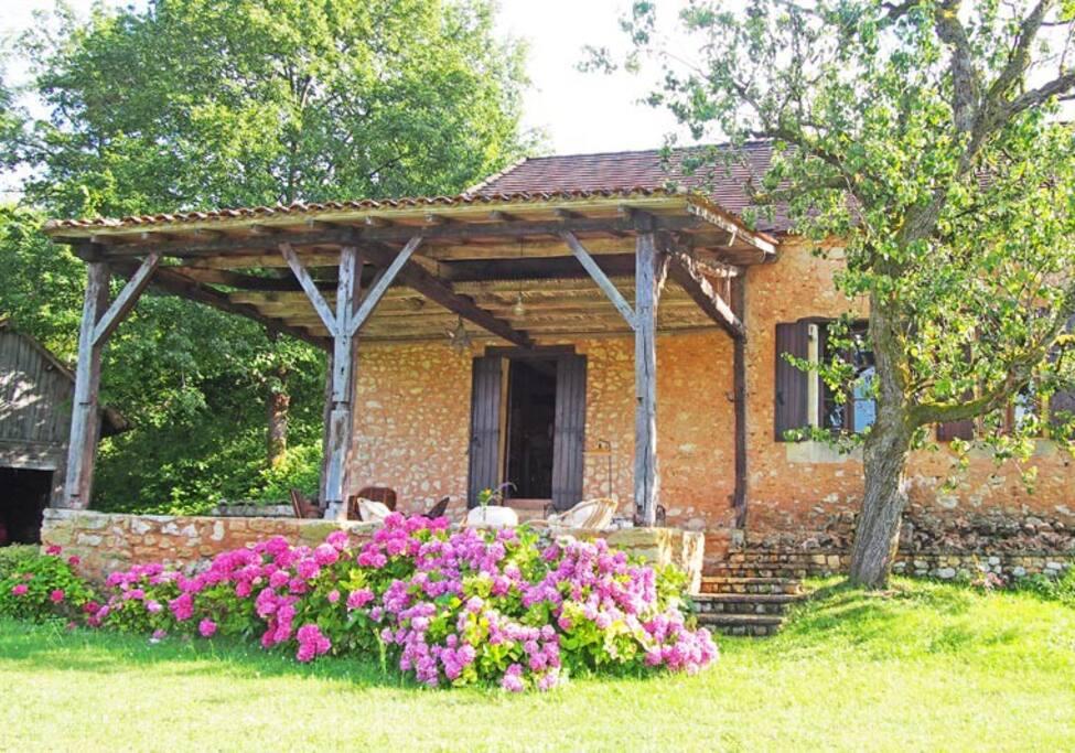 The veranda from the field