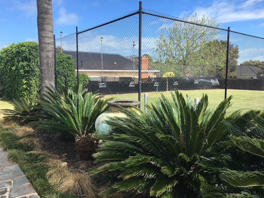 Tennis court available for playing on