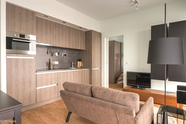 Compact new design apartment with 2 showerrooms