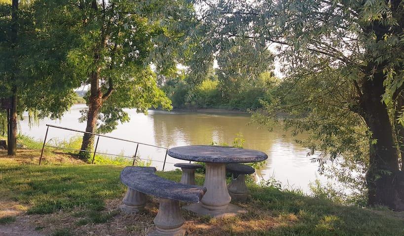 Maison/ Bord de Dordogne / 5 min de Saint émilion
