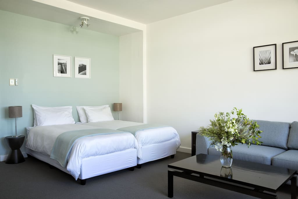 Comfy beds, with fresh white linen
