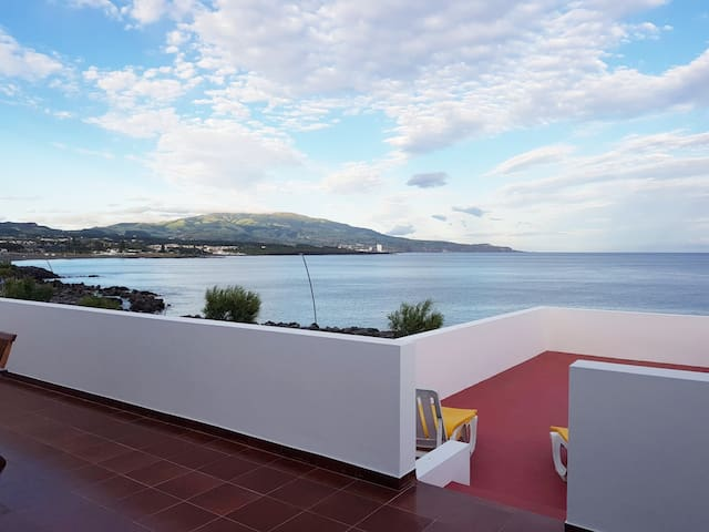Spacious terraces overlooking the waterfront.