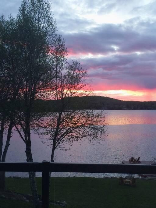 Sunset over Chemong Lake