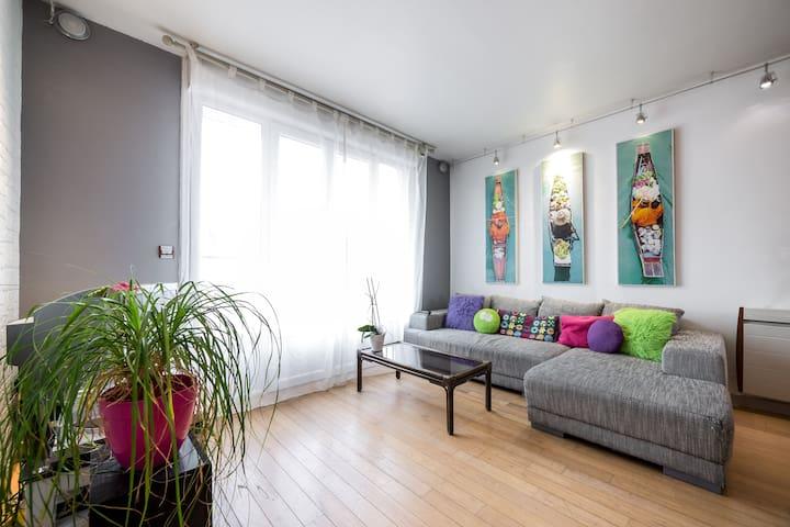 Proche Centre Joli Appart' 4/6 personnes - Vannes - Apartemen