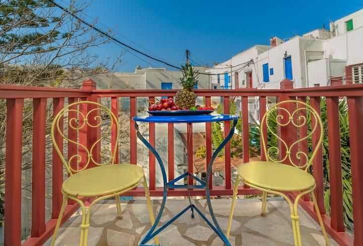 Dimelal Mykonos downtown apartment with balcony