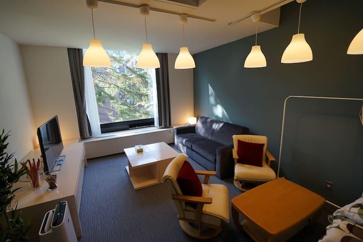 A5033星野TOMAMU度假村內複式公寓50㎡1LDK_6beds&Kitchen&bathtub - Shimukappu, Yūfutsu-gun - Apartment