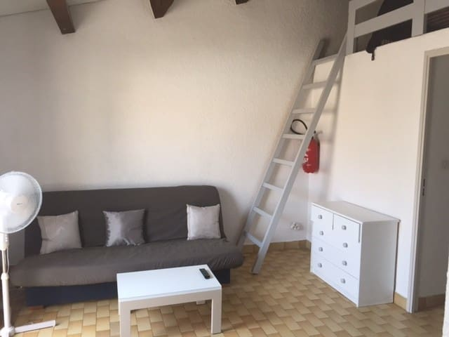 Charming mezzanine studio in the heart of the Cap d'Agde pine forest