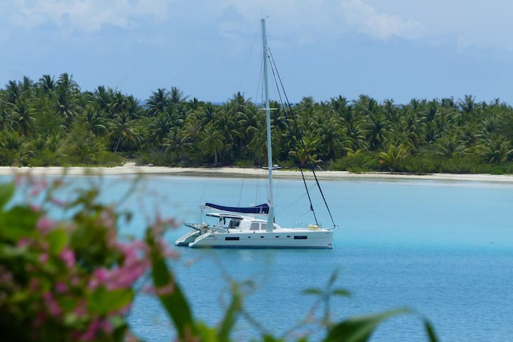 Cabine privée sur catamaran de 50 pieds