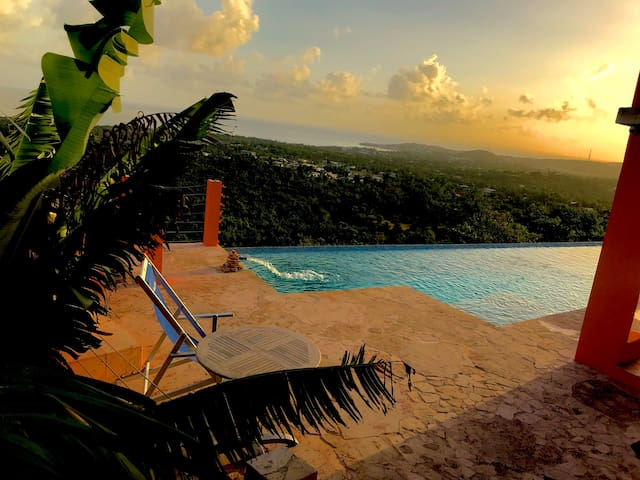 Vieques Penthouse,  pool, terrace, sea forest view