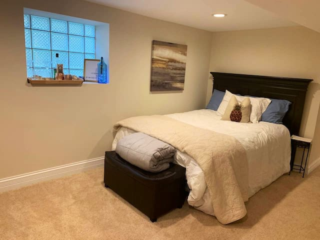 "View of ""bedroom area.""  Note that in-law suite is studio style bedroom - no separate door from living room to sleeping area"