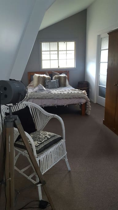 The double bed upstairs.