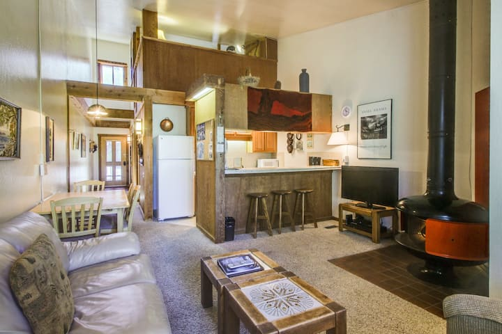 Ski-in/ski-out at this dog-friendly condo w/shared pool/hot tub/sauna!