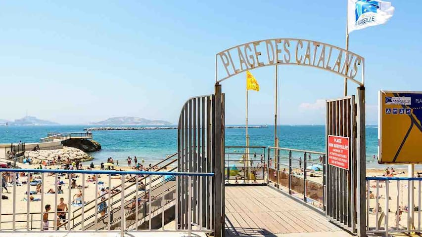 Appartement de 47m2 accès direct à la plage