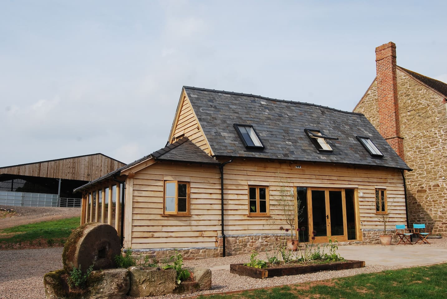 17th Century converted cow shed on working farm.