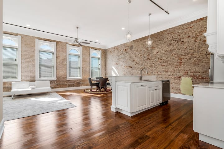 Large Historic downtown Apartment with a view