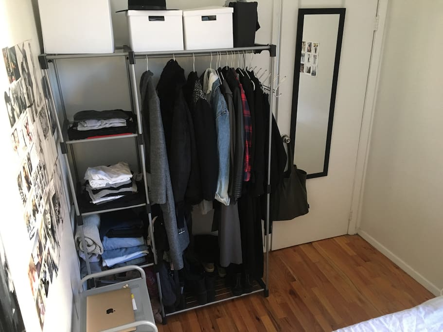 Closet to unpack your luggage
