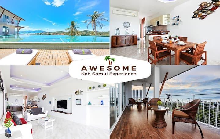 Koh Samui Ocean Views, Huge 2 Bedroom Apartment