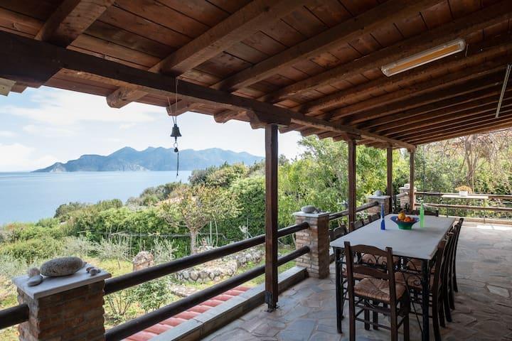 Villa Eirini with sea view