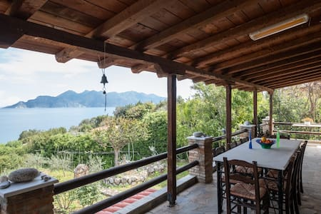 Villa Eirini with sea view